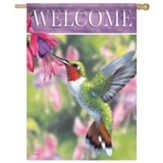 Hummingbird And Fuchsia Flag, Large