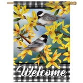Spring Forsythia Flag, Large