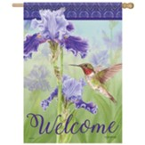 Iris And Hummingbird Flag, Large