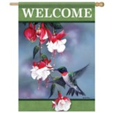 Hummingbird Blossoms Flag, Large