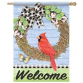 Cardinal On Vine Flag, Large