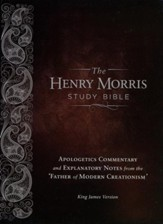 KJV Henry Morris Study Bible; Calfskin, Leather, Brown