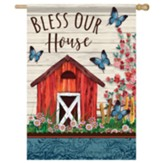 Bless Our House (Serene Barn) Flag, Large