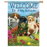 Puppy Welcome Garden Flag, Large