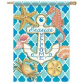 Seaside Anchor Flag, Large