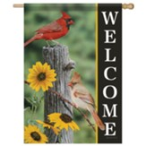 Fence Post Cardinals Flag, Large