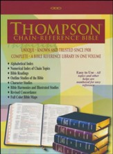 KJV Thompson Chain-Reference Bible, Large Print, Burgundy  Bonded Leather, Thumb Indexed - Imperfectly Imprinted Bibles