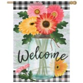 Floral Jar Flag, Large
