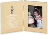 Granddaughter, First Holy Communion Hinged Satin Photo Frame, Silver