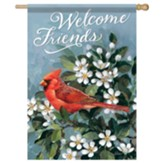 Welcome Cardinal Flag, Large