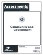 BJU Press Heritage Studies Grade 2 Assessments: Community  and Government (4th Edition)