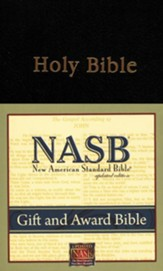 NASB Gift & Award Bible Imitation Leather Black