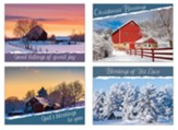Winter Barn Christmas Cards, Box of 12