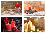 Christmas Candles Christmas Cards, Box of 12