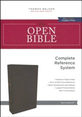 NKJV Comfort Print Open Bible, Imitation Leather, Black