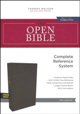 NKJV Comfort Print Open Bible, Imitation Leather, Black, Indexed
