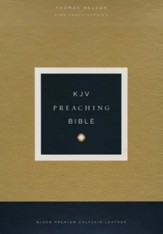 KJV Comfort Print Preaching Bible, Premium Calfskin Leather, Black