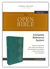 The KJV Open Bible, Comfort  Print--soft leather-look,  turquoise