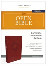 The KJV Open Bible, Comfort Print--soft leather-look, burgundy