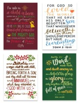 Words of Faith Christmas Cards, Box of 12