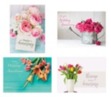 Floral Anniversary Cards, Box of 12 (KJV)