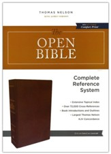 The KJV Open Bible, Comfort Print--genuine leather, brown