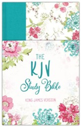 KJV Study Bible--hardcover with floral design