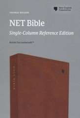 NET Bible, Single-Column Reference, Comfort Print , Leathersoft, Brown
