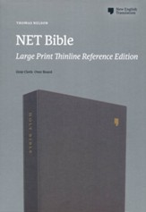 NET Bible, Thinline Reference, Large  Print, Comfort Print, Cloth over Board, Gray
