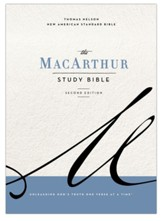 NASB MacArthur Study Bible, 2nd  Edition, Comfort Print--hardcover, gray