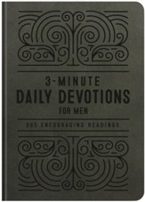 3-Minute Daily Devotions for Men: 365 Encouraging Readings