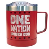 One Nation Under God Stainless Steel Mug, Red