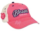 God Blessed This Mess Cap, Mesh Back, Pink/White