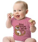 Jesus Loves Me Like No Otter Shirt, Pink, 18 Months