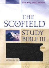 NKJV Scofield Study Bible III, Bonded leather, black, indexed  - Slightly Imperfect