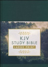 KJV Study Bible - Large Print [Gold Spruce]