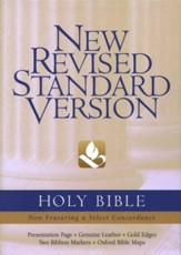 NRSV Bible, Black Genuine Leather  - Imperfectly Imprinted Bibles