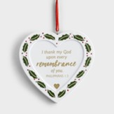 Memorial Heart Resin Ornament