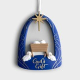 God's Gift, Jesus in Manger, Resin Ornament