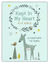 Kept in My Heart KJV Bible (boy cover): A Keepsake for Baby, Paper over boards
