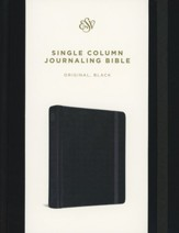 ESV Single Column Journaling Bible(Black)  - Slightly Imperfect