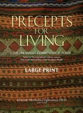 Precepts For Living: The UMI Annual Bible Commentary 2019-2020 (Large Print)