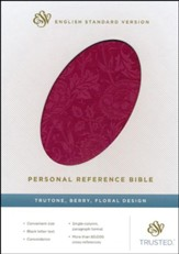ESV Personal Reference Bible, Berry imitation leather with floral design