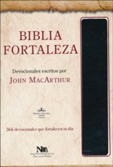 Biblia Fortaleza RVR 1960, Piel Imit. Negra  (RVR 1960 Drawing Near Bible, Black Imit. Leather)