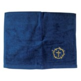 Crown and Cross Pastor Towel, Navy