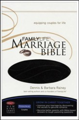 NKJV FamilyLife Marriage Bible: Leathersoft Dark Brown - Imperfectly Imprinted Bibles