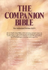 KJV Companion Bible, Bonded leather, Black, Thumb-Indexed