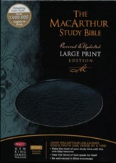 NKJV MacArthur Study Bible Large  Print Black Bonded Thumb-Indexed