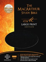 NASB MacArthur Study Bible Large Print Black Bonded - Slightly Imperfect