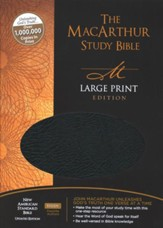 NASB MacArthur Study Bible Large Print Black Bonded Thumb-Indexed